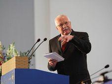 Am Donnerstag hatte Staatspräsident Václav Klaus an der Berliner Humboldt-Universität seinen großen Auftritt (Foto: ČTK)
