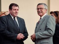 Vladimír Mečiar, Václav Klaus (right) in 1992, photo: CTK