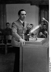 Joseph Goebbels, photo: Bundesarchiv