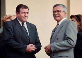 Vladimír Mečiar, Václav Klaus (right) in 1992, photo: CTK