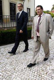 Christian Democrat leader Miroslav Kalousek and Jiri Paroubek, photo: CTK