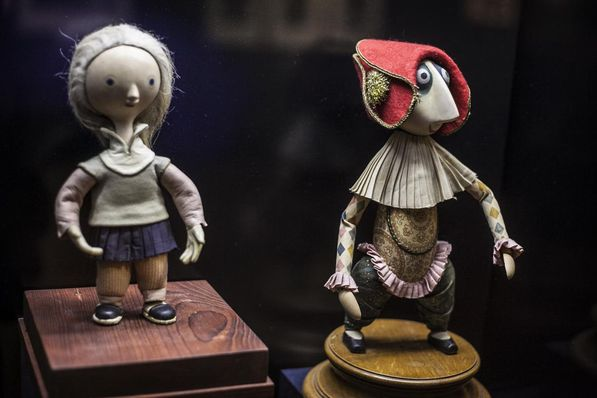 Puppets from 'Cybernetic Grandma' (left) and 'The Hand', photo: Jan Langer, ČT24