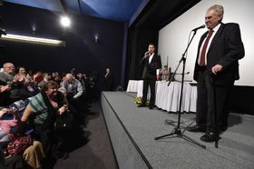 Встреча президента Земана с общественностью в Тишнове, Фото: ЧТК