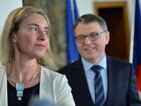 Federica Mogherini et Lubomir Zaorálek, photo: ČTK