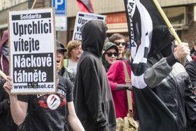 Manifestación, organizada por la iniciativa Izquierda contra la Xenofobia, foto: ČTK