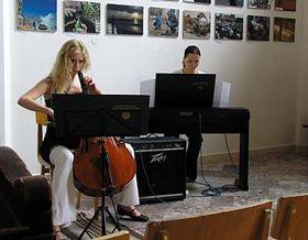 Cellist Marketa Vrbkova performing in Mikulov Synagogue