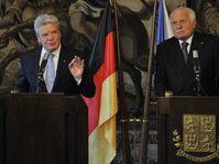 Joachim Gauck, Václav Klaus, photo: CTK