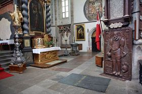 Losa sepulcral de Tycho Brahe