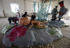 Installation von der tschechischen Künstlergruppe Pode Bal (Foto: ČTK)