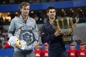 Tomáš Berdych et Novak Djokovic, photo: ČTK