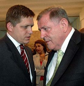 Robert Fico and Vladimir Meciar, photo: CTK