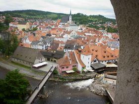 Вид на Чешский Крумлов из замка, фото: Архив Чешского радио - Радио Прага