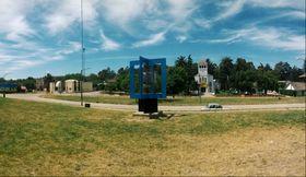 Monumento a la comunidad checoslovaca de Sierras Bayas tras su restauración. Autor Raúl Cernak
