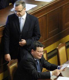 Miroslav Kalousek y Alexandr Vondra, foto: ČTK