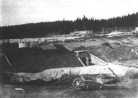 Bau im Juni 1914 (Foto: Public Domain)