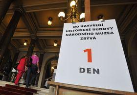 Der letzte geöffnete Tag im Nationalmuseum (Foto: ČTK)