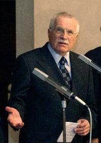 El presidente checo, Vaclav Klaus, foto: CTK