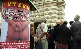 Marcha de sindicalistas paralizará a Praga, foto: CTK