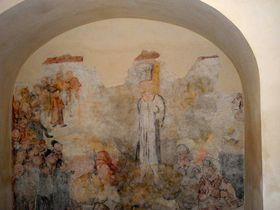 Freska upálení Mistra Jana Husa vkostele sv. Václava, foto: Zdeňka Kuchyňová