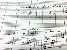 Manuscript of Rusalka, photo: Michaela Vetešková