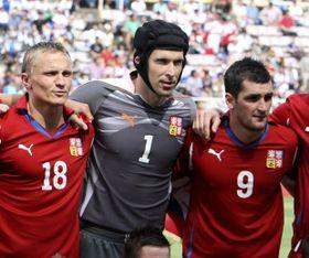 Petr Čech (en medio), foto: ČTK