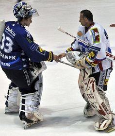 Jakub Štěpánek et Dominik Hašek, photo: CTK