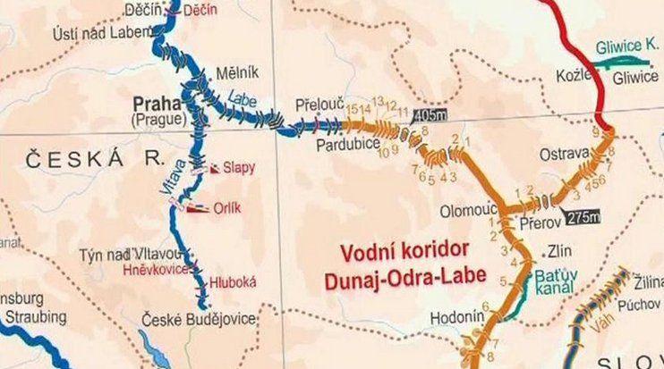 El canal entre el Danubio, el Odra y el Elba, foto: ČT24
