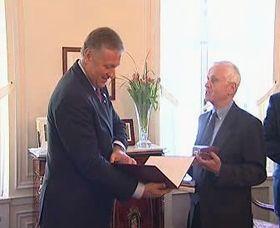 Mirek Topolánek y Josef Mašín, foto: ČT24