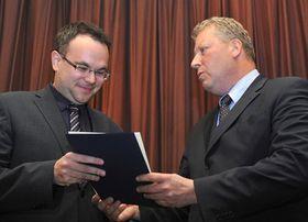 David Mareček (left), Czech Minister of Culture Jiří Besser, photo: CTK