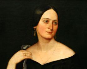 Портрет Божены Немцовой, автор: Йозеф Геллих, 1845 г.