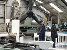 At the main hangar in Hawkinge, photo: Tom Dolezal / Free Czechoslovak Airforce Association