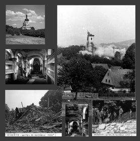 Ausstellung über die zerstörten Kirchen Nordböhmens (Foto: Archiv der Nationalbibliothek Prag)