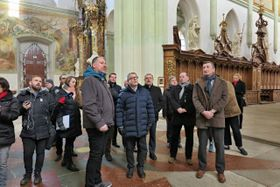 Minister of Culture Lubomír Zaorálek visited the Benedictine monastery of Kladruby, photo: Martina Sihelská, ČRo Plzeň