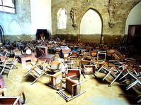 Анежский монастырь после наводнений