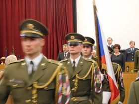 Церемония в честь ветеранов в Министерстве обороны ЧР, Фото: Лорета Вашкова, Чешское радио - Радио Прага