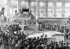 Zahájení Světové výstavy ve Vídni vroce 1873