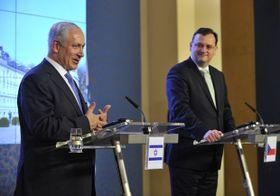 Benjamín Netanyahu y Petr Nečas, foto: ČTK