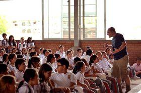 Primera presentación en el colegio de Guadalupe, foto: Tamara Allina