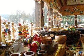 Ausstellung über die Tradition der Holzverarbeitung (Foto: Pavel Halla, Archiv des Tschechischen Rundfunks)