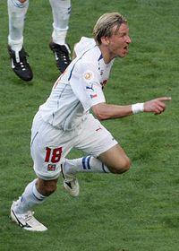 Marek Heinz está alegrarse del gol victorioso, foto: CTK
