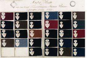 Alte Textil-Musterkarte (Foto: Archiv der Mährischen Galerie in Brünn)