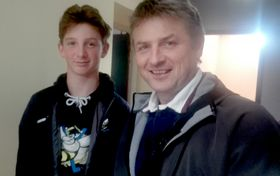 François Neckar et son fils, photo: Alexis Rosenzweig