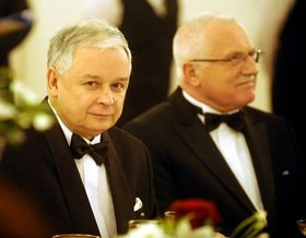 Lech Kaczynski y Václav Klaus, foto: ČTK