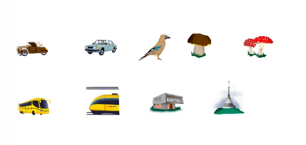 Beer, schnitzel and mushroom picking – unique set of emojis