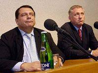 Jiri Paroubek y Mirek Topolanek (Foto: CTK)
