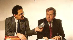 Freddy Valverde y Václav Havel