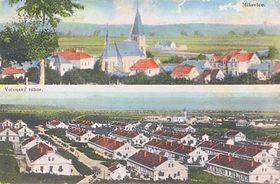 Tarjeta histórica del pueblo Milovice