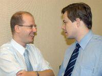 Ministros del gobierno checo Bohuslav Sobotka y Pavel Nemec, foto: CTK