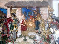 Weihnachtskrippe bei den Kapuzinern (Foto: Autorin)