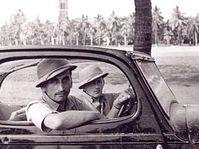 Bohuslav Jan Prochazka and Jindrich Kubias arriving in Lahore from Pakistan